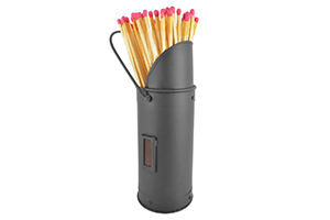 Match Holder and Matches – Black