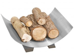 Crescent Log Tray (Pewter)