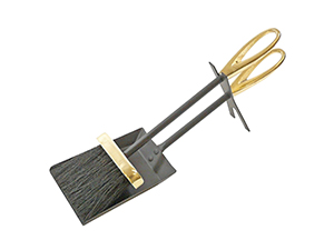Hearth Tidy Loop – Black and Brass