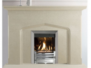 Berkeley stone fireplace