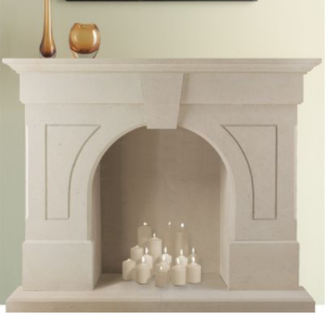 Clearwell stone fireplace