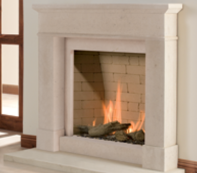 Colchester stone fireplace