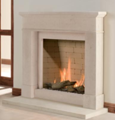 Colchester stone fireplace