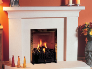 Iona stone fireplace