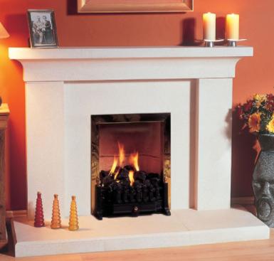 Iona stone fireplace