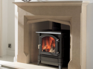 Porchester stone fireplace