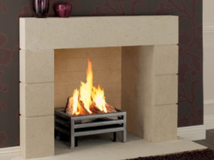 Priory stone fireplace