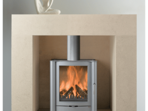 Bauhaus stone fireplace