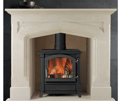 Eastnor stone fireplace
