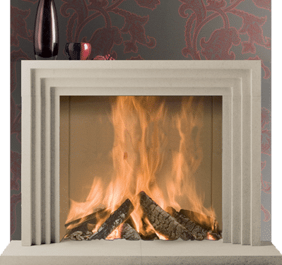 Helmsley stone fireplace