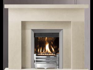 Loarre stone fireplace