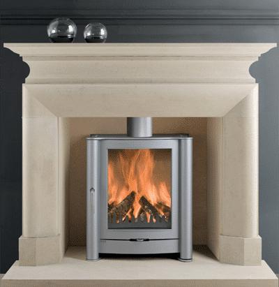 Montgomery I stone fireplace