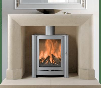 Montgomery II stone fireplace