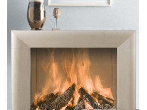 Montgomery IV stone fireplace