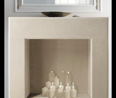 Villena stone fireplace
