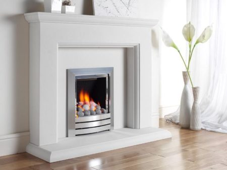 Kinder Camber Black - Contemporary Living Flame Effect Gas Fire-0