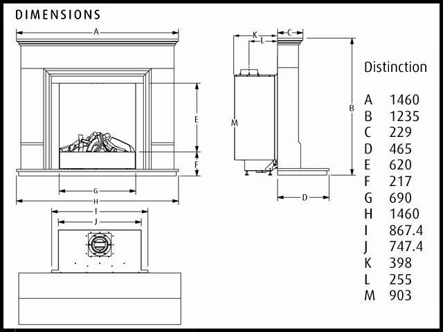 Verine Distinction - High Efficiency Balanced Flue Gas Fireplace ...