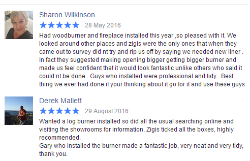 Testimonials from cutomers who have used Zigis fireplace and wood burners
