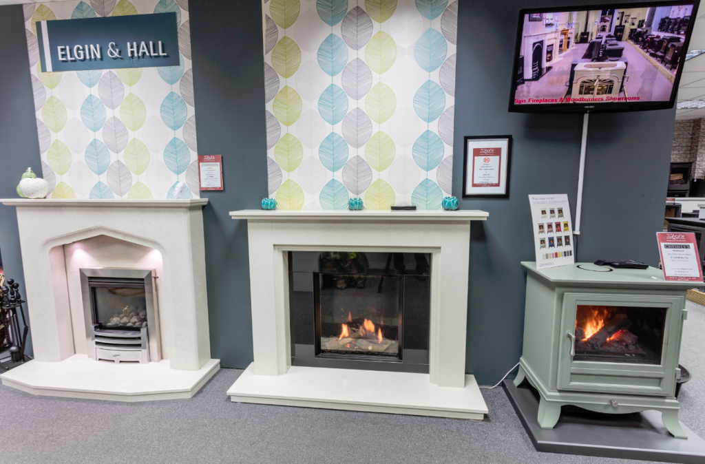 Elgin & Hall Fireplaces in the Zigis Colchester Showroom