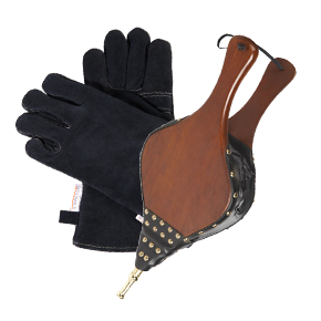 Bellows, Match Holders, Shovels, Stove Gloves