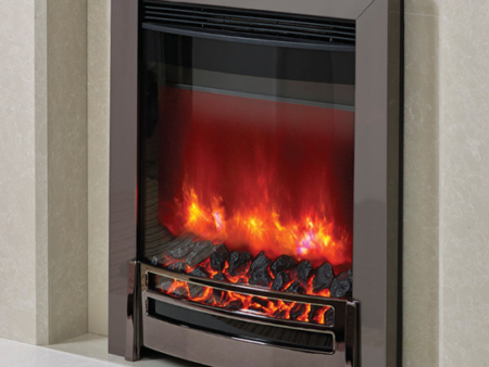 Elgin & Hall Ember Black Chrome Electric Fire