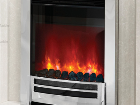 Elgin & Hall Ember Chrome Electric Inset Fire