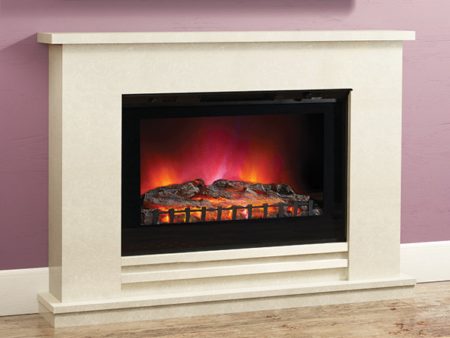 Elgin & Hall Matteo LED widescreen Black Electric Fire