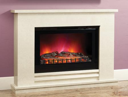 Elgin & Hall Matteo LED widescreen Black Electric Fire