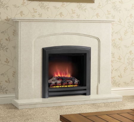 Elgin & Hall Newham LED Widescreen Black Electric Fire