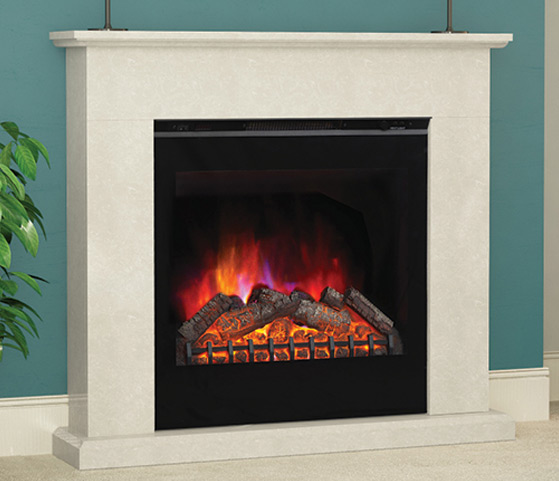 Elgin Hall Vittoria LED Electric Fire In Black