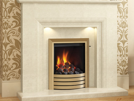 Milena Fireplace with marble surround