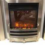 Norwich Showroom Celsi 16 Electriflame Bauhaus in Silver Electric Fire Was £389 Now £249