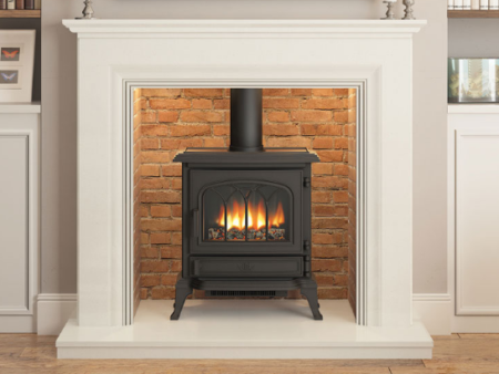 Odella Inglenook Fireplace with marble fire surround