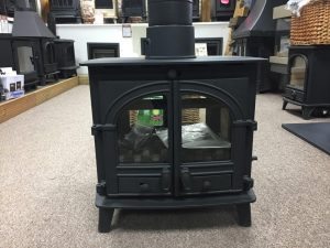 Parkray Consort 7 2 sided stove single depth with double doors ex showroom display Was £ 1978 Now £ 1500