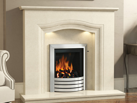 Rosalina Marble Fireplace with marble surround