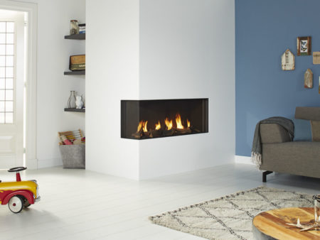 DRU Global 100 Corner BF Gas Fire