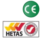 CE & Hetas approved