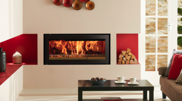 Stovax Studio 2 Edge wood burning fire