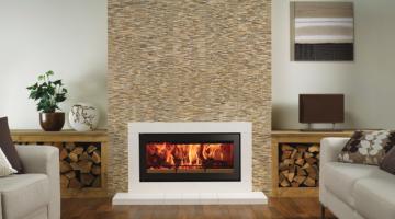 Stovax Studio 2 Sorrento inset wood burning fire – Natural Limestone