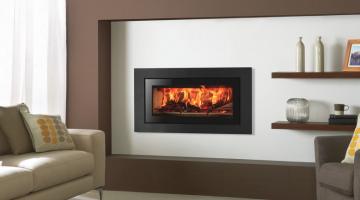 Stovax Studio 2 Steel XS cassette wood burning fire