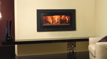Stovax Studio 2 Steel XS cassette woodburning fire