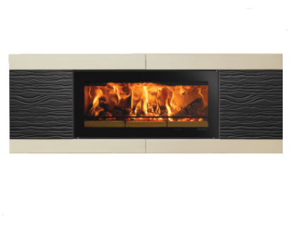 Stovax Studio Ceramica Wave wood burning fire