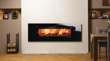 Stovax Studio 3 Glass inset wood burning fire