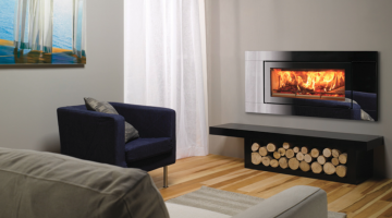 Stovax Studio 2 Glass inset wood burning fire