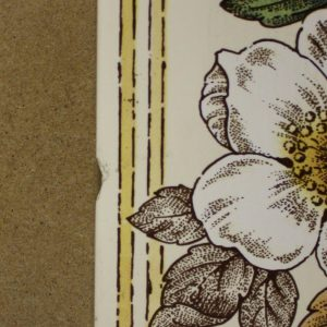 Ducal Dog Roses Set of 5 Transfer Tiles x 2 (chip detail)
