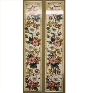 Ducal Dog Roses Set of 5 Transfer Tiles x 2 (minor damage to one tile) - Was £60 Now £20