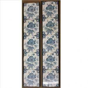 Genuine Victorian Blue Flower 5-Tile Set x 2 - £200