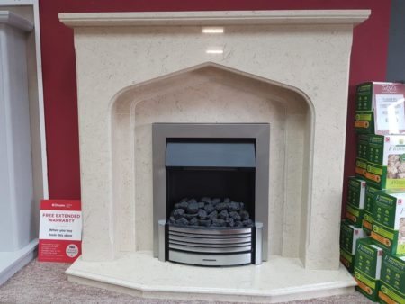 Arnold Fireplaces Winchester 48-inch Fireplace in Corsica Micro-Marble (fire sold seperately) (Halstead) - Was £1270 NOW £635