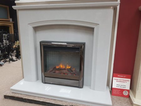 Elgin _ Hall 52-inch Elian Fireplace in Grey Micro-Marble (fire sold seperately) (Halstead) - Was £1106 NOW £800