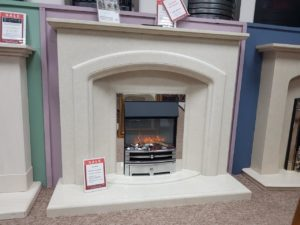 Elgin _ Hall Harriet 52-inch Fireplace in Italica Marble with Downlights (fire sold seperately) (Halstead) - Was £1154.71 NOW £800
